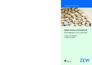 Digitale Literatur und Urheberrecht