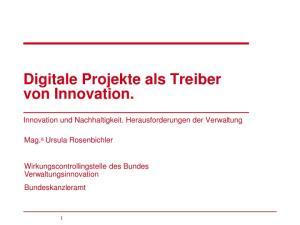 Digitale Projekte als Treiber von Innovation