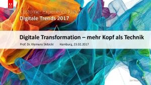Digitale Transformation mehr Kopf als Technik