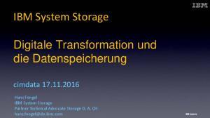 Digitale Transformation und die Datenspeicherung