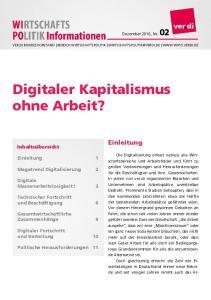 Digitaler Kapitalismus ohne Arbeit?