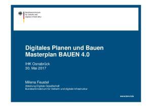 Digitales Planen und Bauen Masterplan BAUEN 4.0