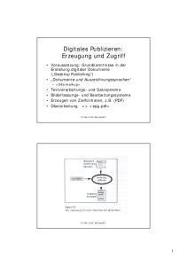 Digitales Publizieren: Erzeugung und Zugriff