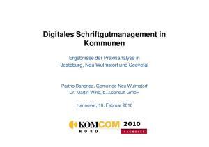 Digitales Schriftgutmanagement in Kommunen