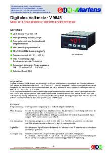 Digitales Voltmeter V 9648 Mess- und Anzeigebereich getrennt programmierbar