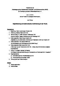 Digitalisierung und elektronische Archivierung in der Praxis