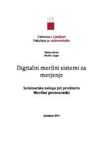 Digitalni merilni sistemi za merjenje