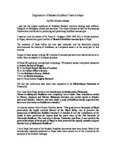 Digitization of Sanskrit Buddhist Texts in Nepal