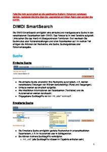 DIMDI SmartSearch. Suche. Einfache Suche. Erweiterte Suche