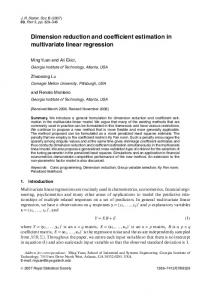 Dimension reduction and coefficient estimation in multivariate linear regression