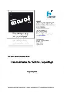Dimensionen der Milieu-Reportage