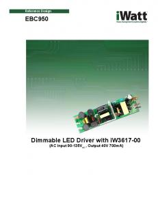 Dimmable LED Driver with iw (AC input V AC