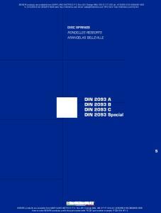 DIN 2093 A DIN 2093 B DIN 2093 C DIN 2093 Special