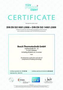 DIN EN ISO 9001: DIN EN ISO 14001:2009