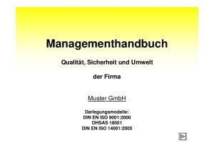 DIN EN ISO 9001:2000 OHSAS DIN EN ISO