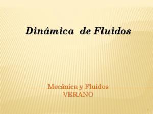 Dinámica de Fluidos. Mecánica y Fluidos VERANO