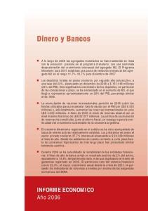 Dinero y Bancos INFORME ECONOMICO