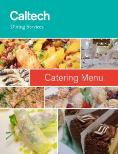 Dining Services. Catering Menu