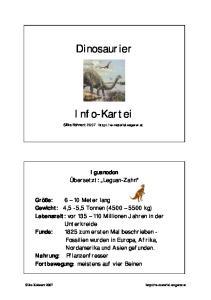 Dinosaurier. Info-Kartei