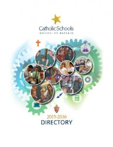 Diocese of Buffalo. Division of Catholic Education
