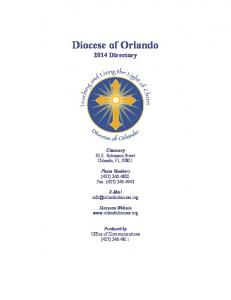 Diocese of Orlando 2014 Directory