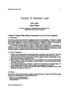 Diode IV Sweep Lab *