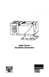 Diode Pointer Installation Instructions