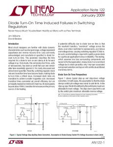 Diode Turn-On Time Induced Failures in Switching Regulators