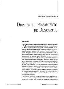 Dios EN EL PENSAMIENTO DE Descartes