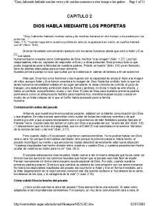 DIOS HABLA MEDIANTE LOS PROFETAS