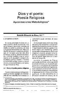 Dios y el poeta: Poesía Religiosa