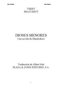 DIOSES MENORES Una novela de Mundodisco