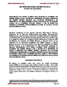 DIP. FIDEL LEONARDO SUAREZ VIVANCO PUNTO DE ACUERDO