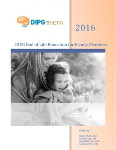 DIPG End of Life Education for Family Members