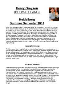 DIPLANG)! Heidelberg! Summer Semester 2014!
