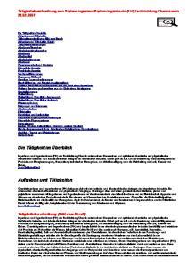 Diplom-Ingenieurin (FH) Fachrichtung Chemie vom