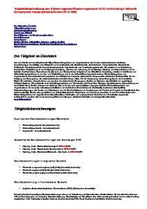 Diplom-Ingenieurin (FH) Fachrichtung Elektronik Schwerpunkt Industrieelektronik vom