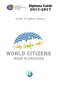 Diploma Guide Grade 10 Option Choices