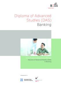 Diploma of Advanced Studies (DAS) Banking