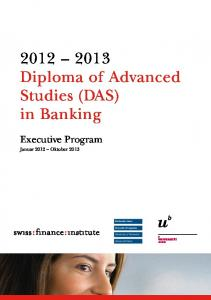 Diploma of Advanced Studies (DAS) in Banking