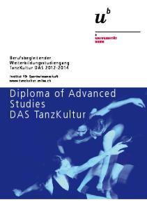 Diploma of Advanced Studies DAS TanzKultur