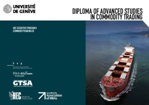 DIPLOMA OF ADVANCED STUDIES IN COMMODITY TRADING