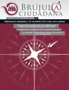 Diplomacia ciudadana y la sociedad civil como actor global