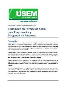 Diplomado en Formación Social para Empresarios y Dirigentes de Empresa