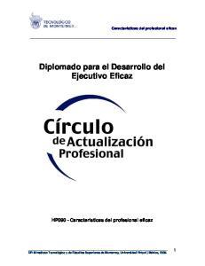 Diplomado para el Desarrollo del Ejecutivo Eficaz