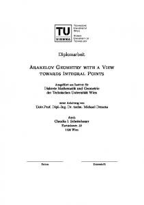 Diplomarbeit. Arakelov Geometry with a View towards Integral Points