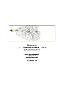 Diplomarbeit LEGO Mindstorms Simulator - JORGE Installationshandbuch