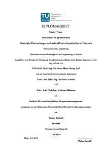 DIPLOMARBEIT. Master Thesis. Problematik im Spezialtiefbau. Problems in civil engineering