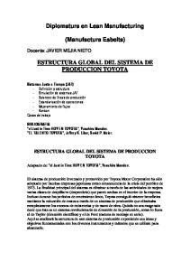 Diplomatura en Lean Manufacturing. (Manufactura Esbelta) ESTRUCTURA GLOBAL DEL SISTEMA DE PRODUCCION TOYOTA