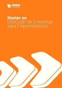 Dirección de Empresas para Emprendedores